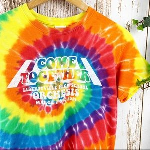 Come Together Bright Tie Dye Band Camp Graphic Tee